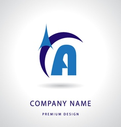 Letter a logo icon design template element vector