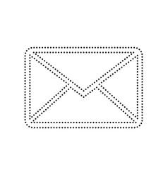 Letter sign black dotted vector