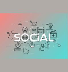 Modern concept of word social vector