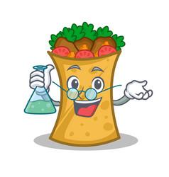 Professor kebab wrap character cartoon vector