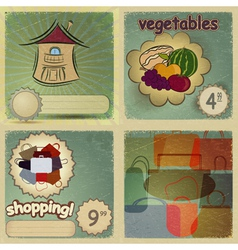 Set of vintage cards for trade vector