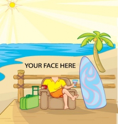 sunny vacation vector image vector image
