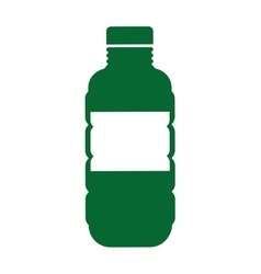 bottle green ecology icon vector image