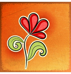 Red abstract flower vector image