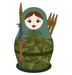 Matryoshka with an RPG-7 vector image