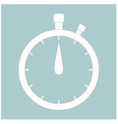 The stopwatch the white color icon vector