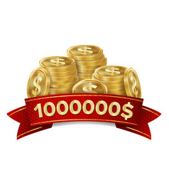jackpot winner casino background golden vector image