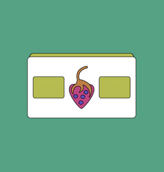flat icon design collection videocassette and vector image