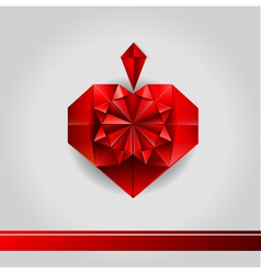 Valentine paper love heart vector image
