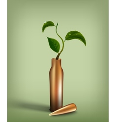 Bullet with green sprout inside vector