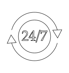 24 hours customer support service icon vector