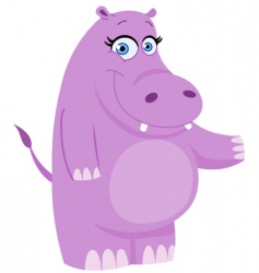 hippo presenting vector image