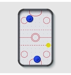 Modern air hockey table on white vector