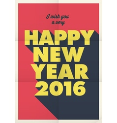 Happy new year 2016 poster retro title vector