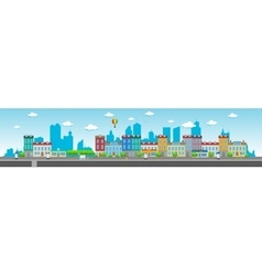 Long city street vector