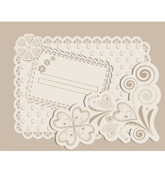 Romantic scrapbooking for invitation vector
