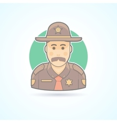 Police officer texas chief cop icon vector