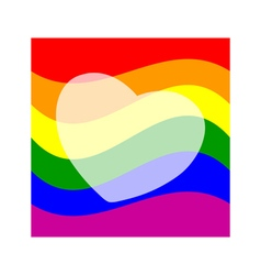 Stock background with gay pride design vector