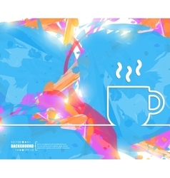 Creative coffee cup art vector