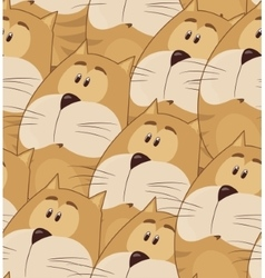 Amusing animation chubby cat seamless pattern for vector
