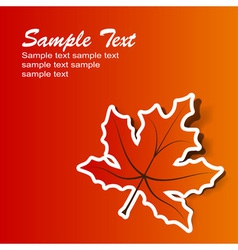Abstract maple background eps10 vector