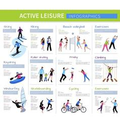Active Leisure People Infographics vector image
