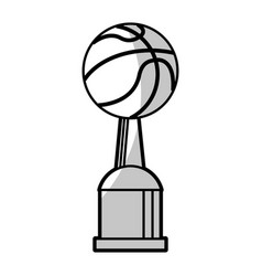 basketball winner cup prize - shadow vector image vector image