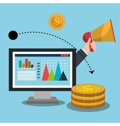 Business profit and sales vector