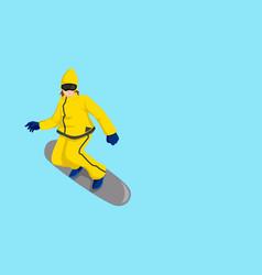 Cartoon of a snow boarder vector