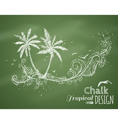 Chalk tropical vector
