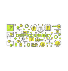 Crypto currency colorful - vector