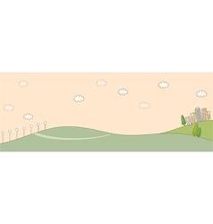 Cute idyllic landscape background vector