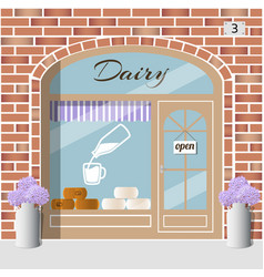 dairy products shop vector image vector image