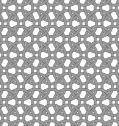 Dark gray circle interlocking ornament vector