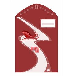 Envelope for santa claus vector