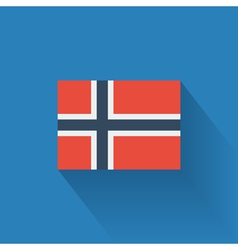Flat flag of Norway vector image vector image