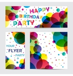 Flyers with circles vector image vector image