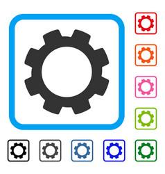 Gear framed icon vector