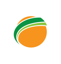 globe sphere earth orange logo image vector image vector image