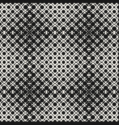 halftone seamless pattern with circles crossing vector image