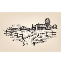 Hand drawn village vector