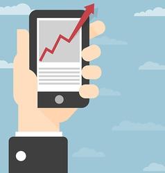 Hand smart phone vector