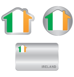 Home icon on the Ireland flag vector image vector image
