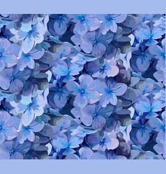 hydrangea hortensia flower seamless pattern vector image vector image