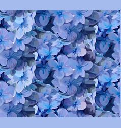 Hydrangea hortensia flower seamless pattern vector