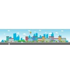 Long city street vector
