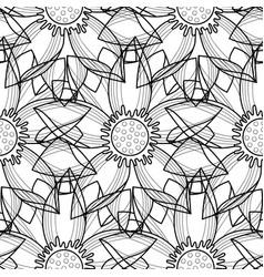 Lotus modern seamless pattern vector