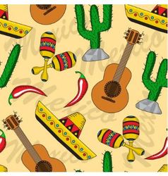 Mexican seamless background vector