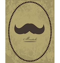 Moustache background vector image