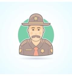 Police officer texas chief cop icon vector